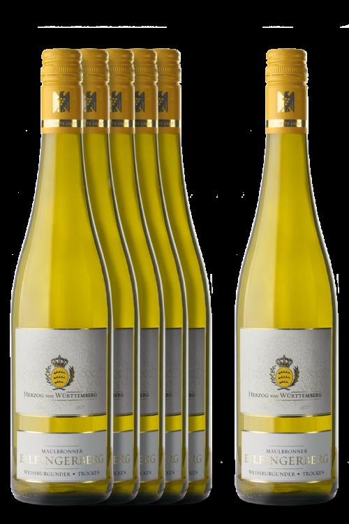 5+1 Weinpaket Maulbronner Eilfingerberg Weißburgunder trocken